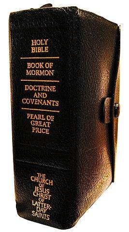 """Mormonische """"quadruple combination"""" aus Bibel, Buch Mormon, köstlicher Perle und Lehre&Bündnisse"""