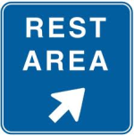road sign: rest area